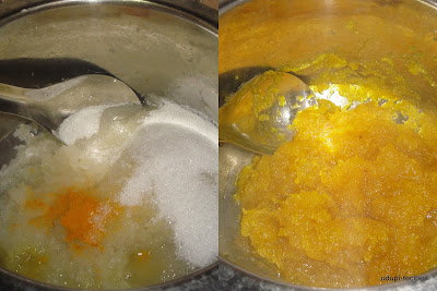 ashgourd halwa preparation