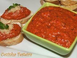 Pesto de pimentão vermelho!!