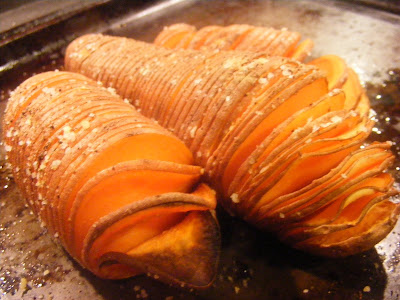 Green and Lean: Hasselback Sweet Potatoes