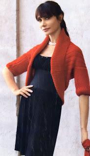 красное вязаное болеро