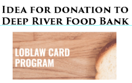Deep River Food Bank DONATION Opportunity