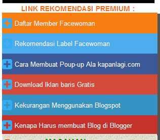 Cara Membuat Menu Link Rekomendasi Di Blog
