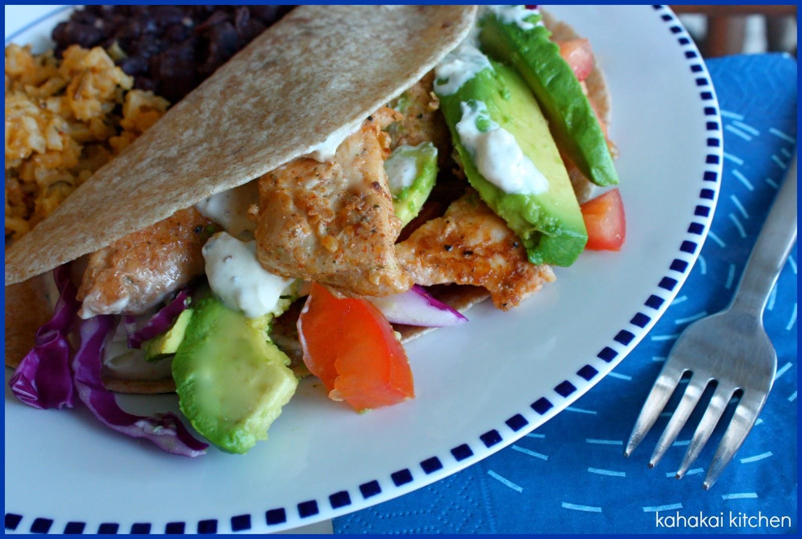 Kahakai kitchen the book tour stops here a review of for Greek yogurt fish taco sauce