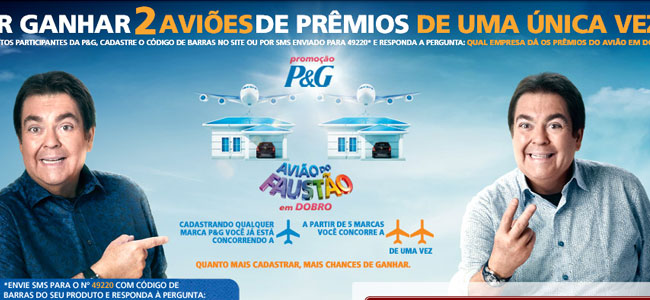 Promoção Avião do Faustão 2015