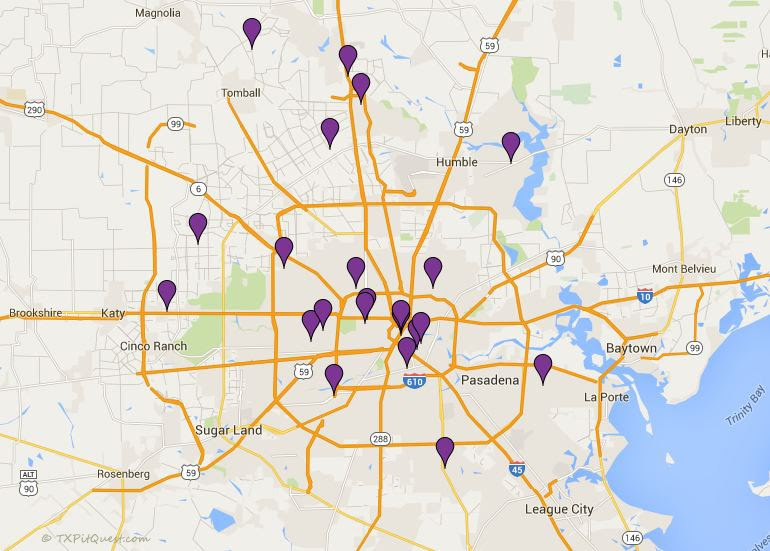 Houston-Area BBQ Map