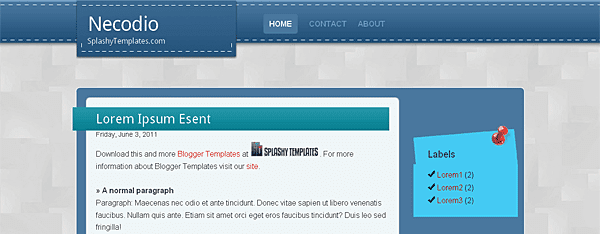Necodio Blogger Template