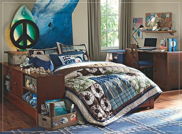 Un dormitorio surf dormitorios con estilo - Habitaciones juveniles con estilo ...