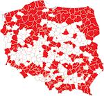 Pocztówkowa mapa Polski