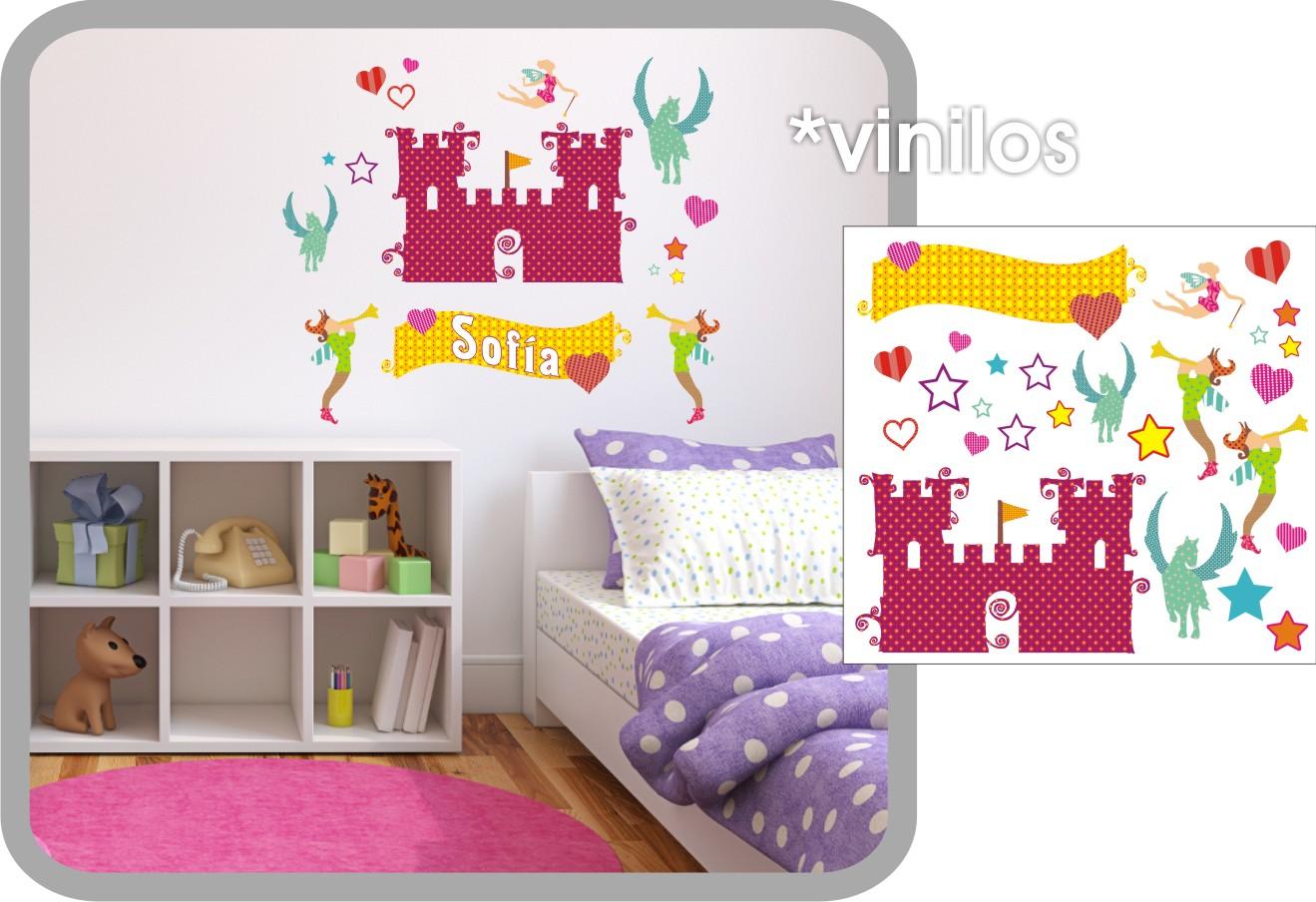 Vinilos decorativos infantiles diseniaria tienda for Vinilos infantiles hadas