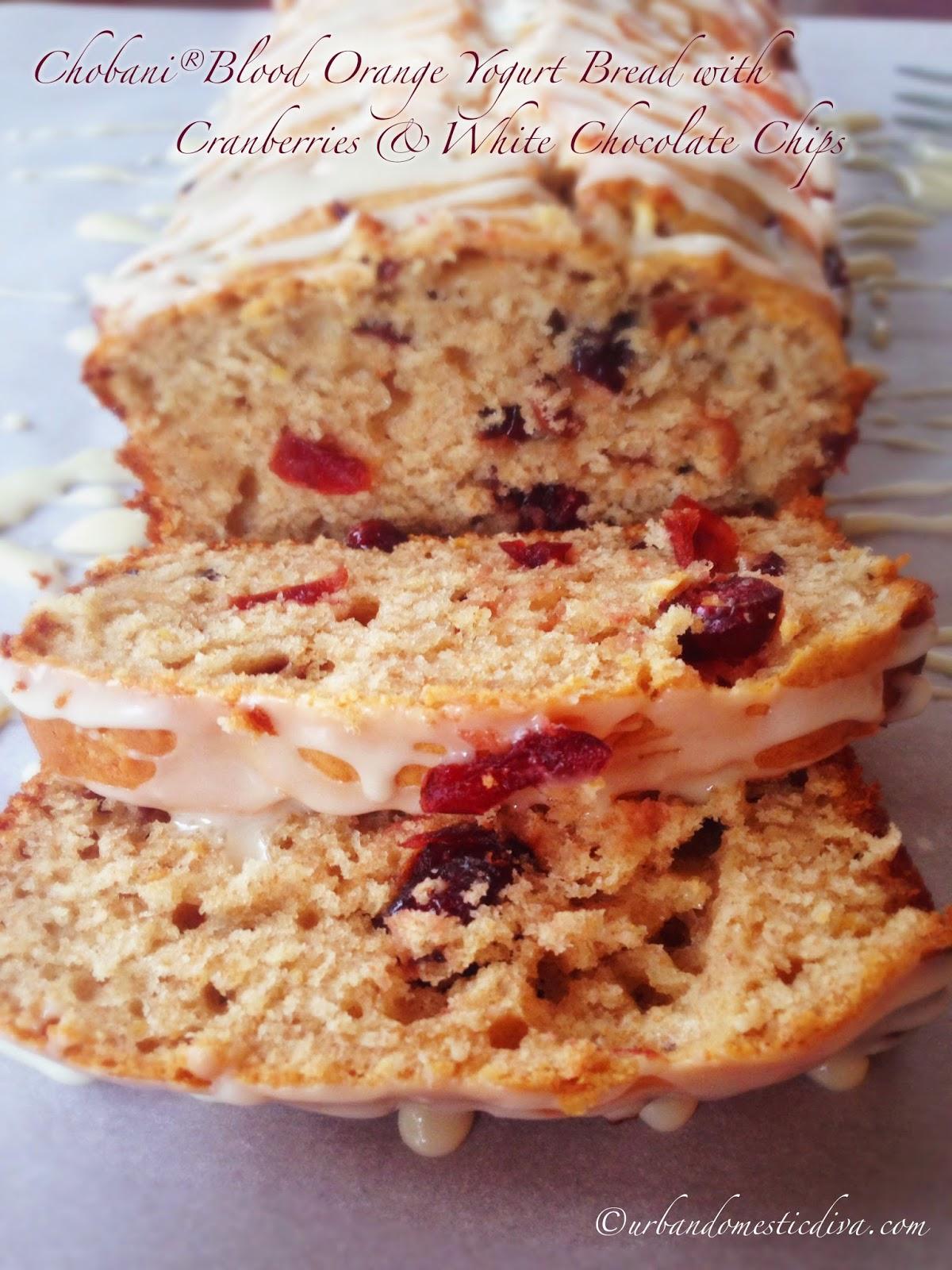 RECIPE: Chobani® Blood Orange Yogurt Bread with Cranberries and White ...