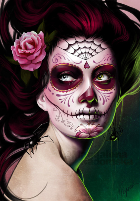 Ink it up traditional tattoos dia de los muertos tattoos for Halloween makeup tattoos