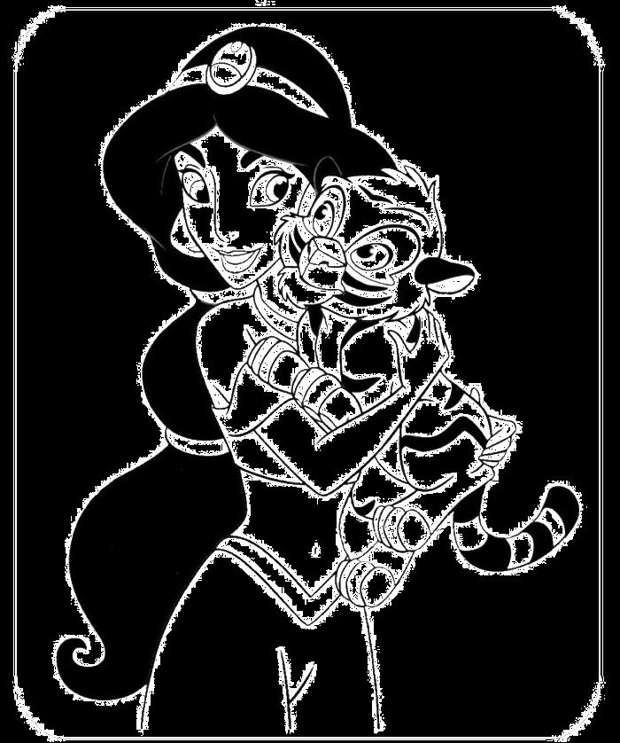 Baby Princess Jasmine Coloring Pages Disney Princess Jasmine