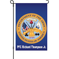 Personalized Army Garden Flag