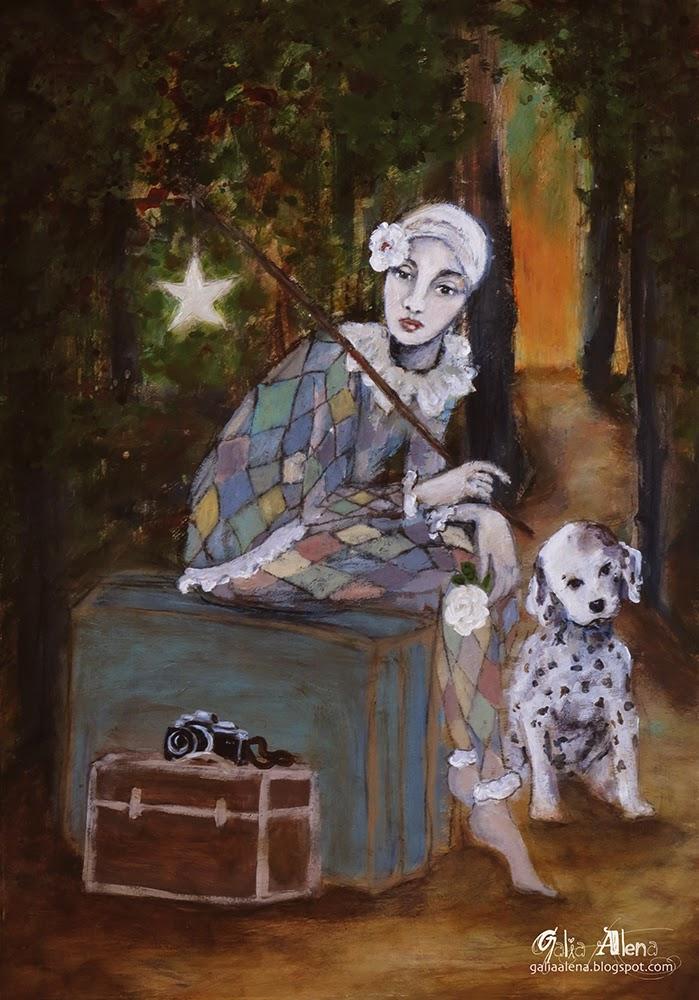 La Folle, Galia Alena mixed media painting