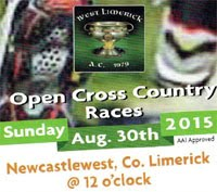 Open Cross Country in W.Limerick...Sun 30th Aug