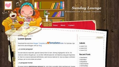 Sunday Lounge - Free Blogger Template