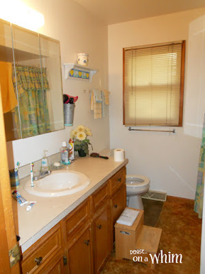 Bathroom Before. After Coming Soon! | Denise on a Whim
