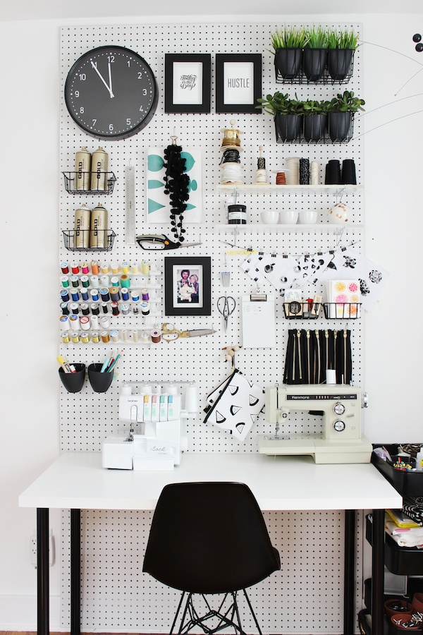 office pegboard idea