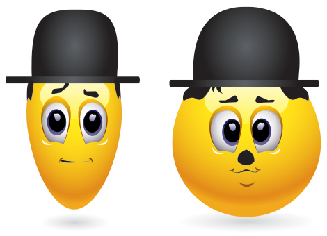 Laurel and Hardy emoticons