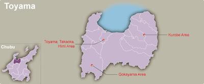 Toyama Map Regional City