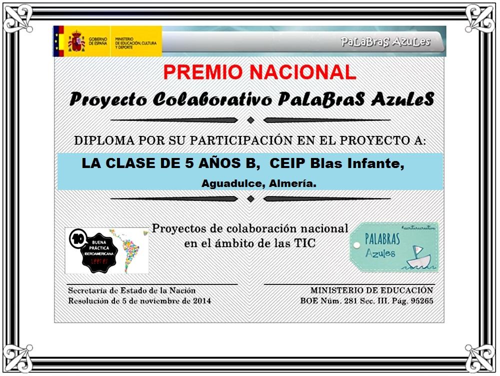 PARTICIPAMOS EN PALABRAS AZULES Y...