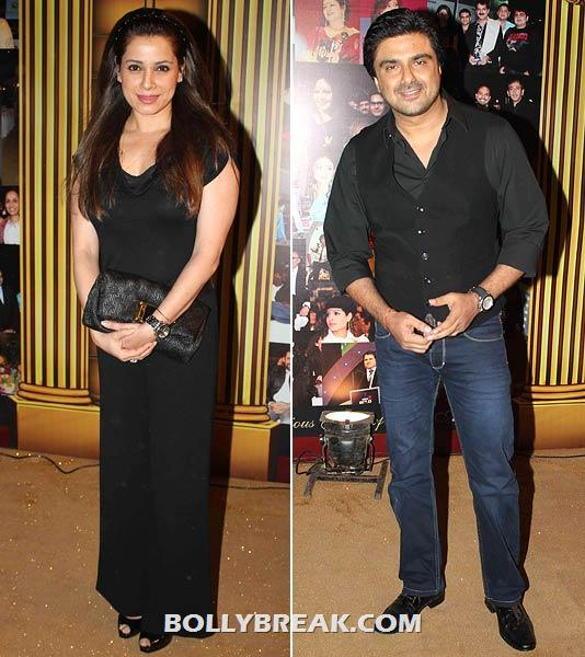 Neelam and Sameer Soni - (8) - Star Gold television awards 2012 Pics