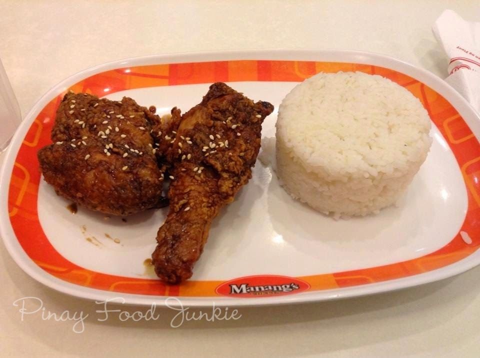 Eating manang's soy garlic chicken