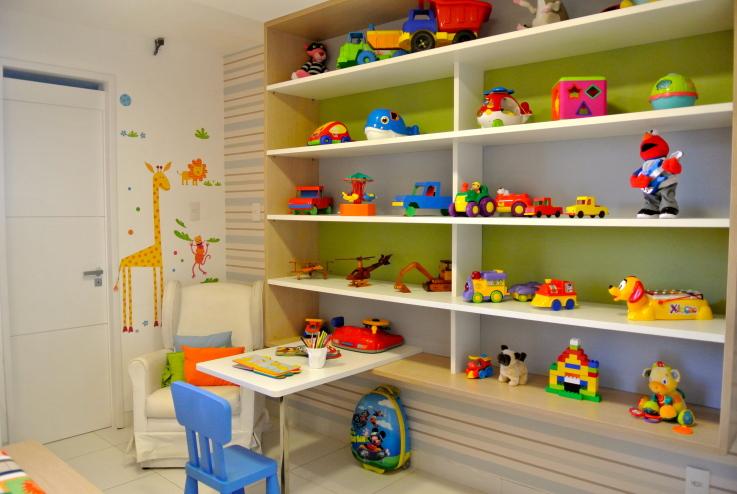 Estantes Para Quarto De Brinquedos ~ Decora Interi  Decora??o de Quartos de crian?as 4 ? 8 anos