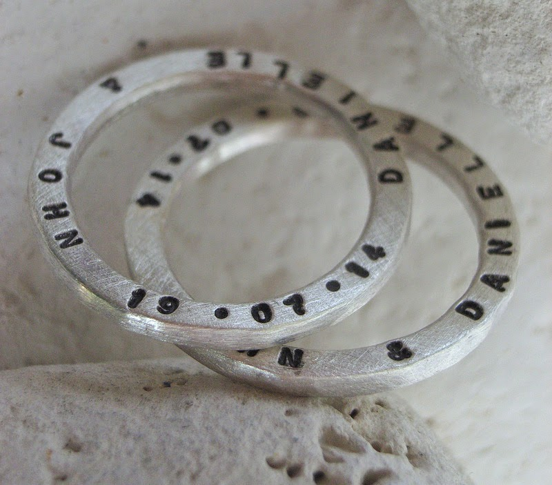 personalised recycled silver rings handmade