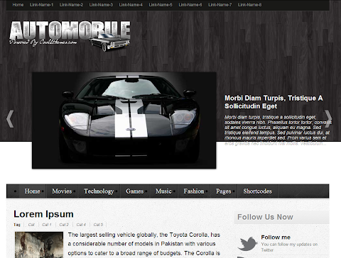 Automobile Blogger Theme