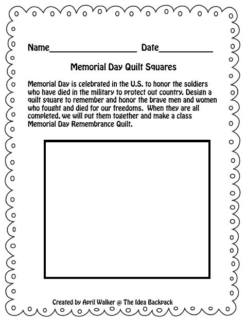 Memorial Day Worksheets for Kids - Woo! Jr. Kids Activities