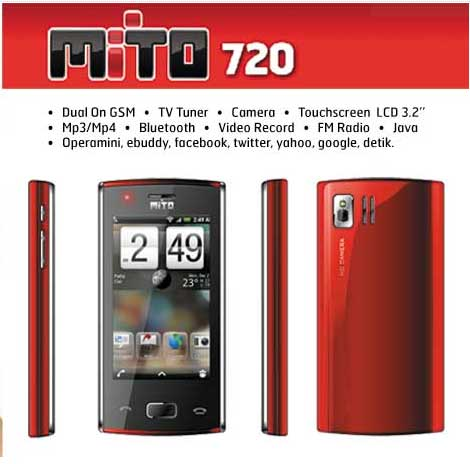 Mito 720 | Harga Spesifikasi Mito 720 bonus wireless headphone on ear