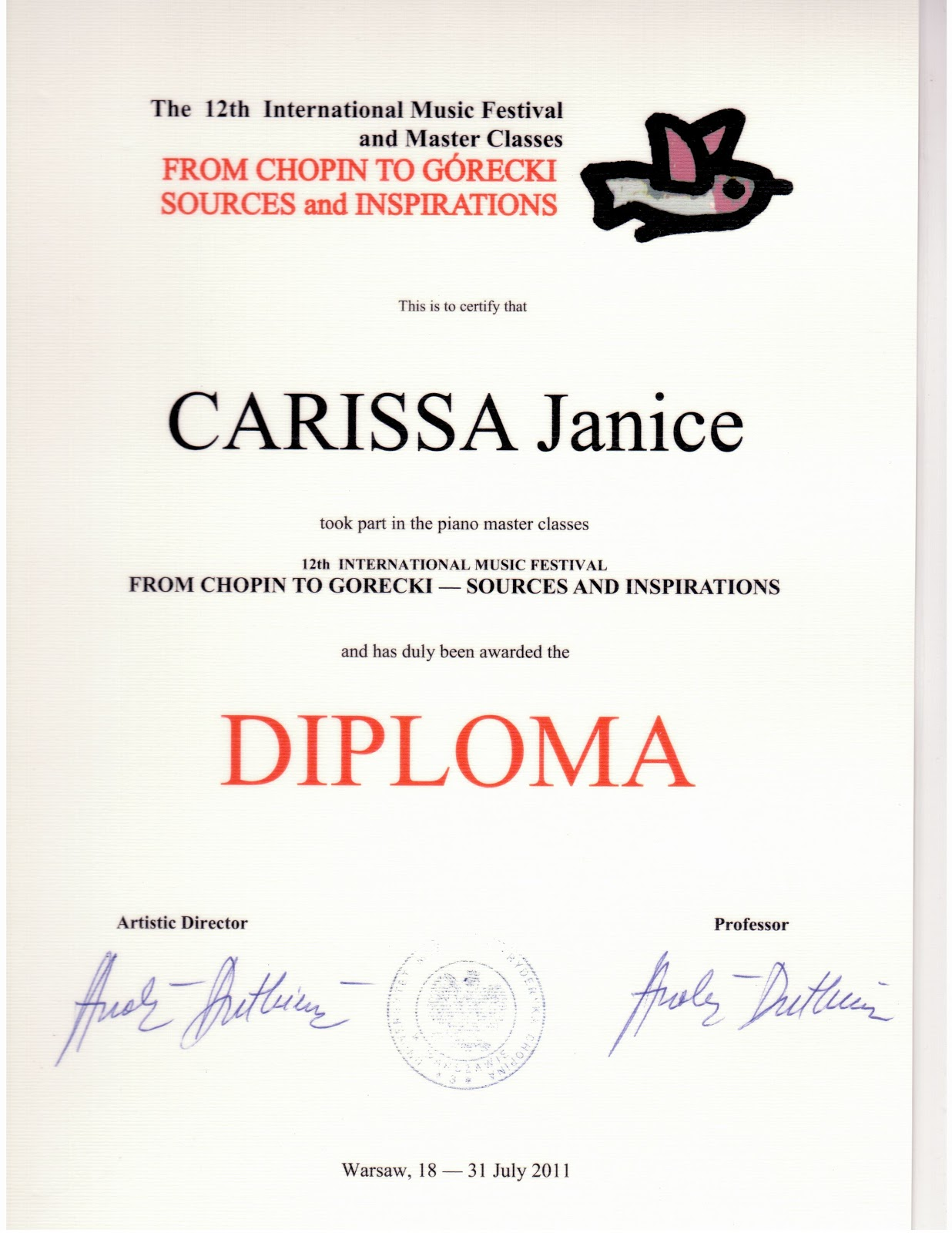 Certificates and awards janice carissa l dip a certificates and awards anzcas certificate xflitez Gallery