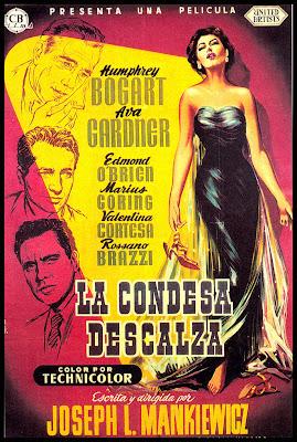 poster de cine antiguo la condesa descalza