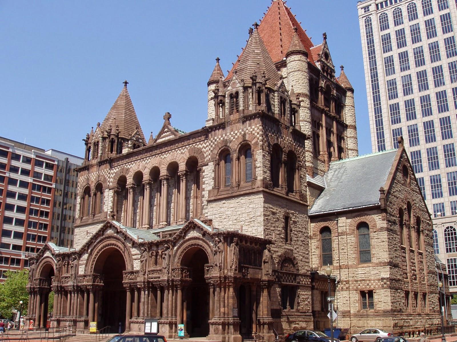 architecture trinity church of boston massachusetts