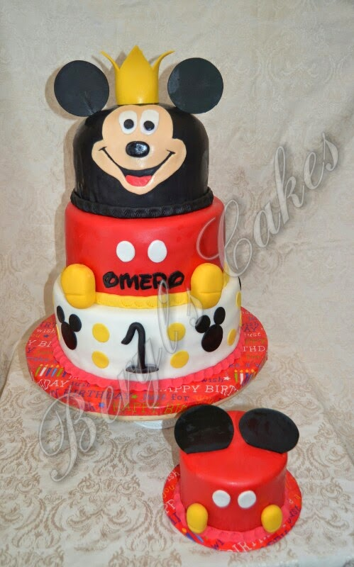 Beryls Cakes Mickey Mouse Prince 1st Birthday Cake