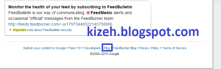 Homepage feedburner