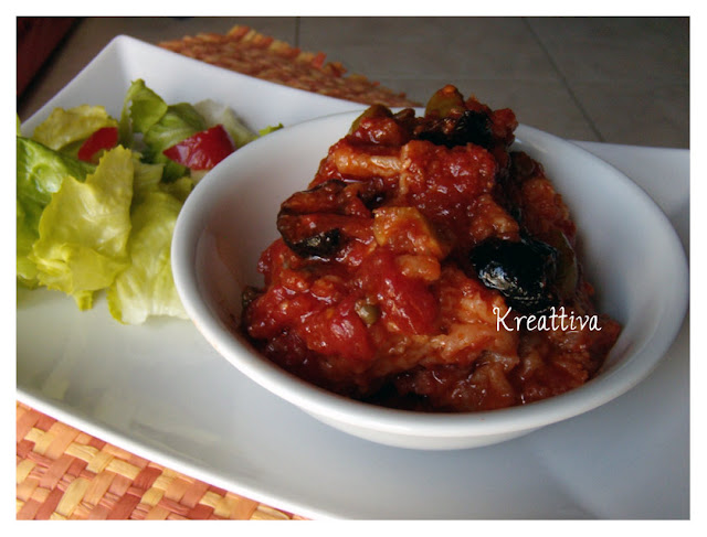 Baccalà con pomodoro olive nere e capperi