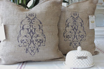 """NEW"" Burlap Pillows"