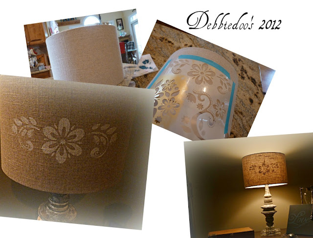 lampshadess Stenciled lampshade {DIY}