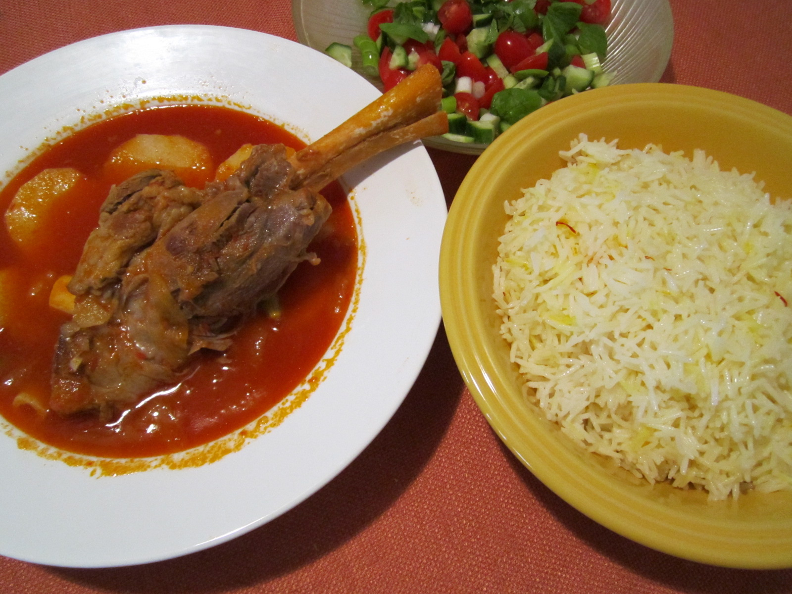 The Iraqi Family Cookbook: Lamb Shanks with Potatoes