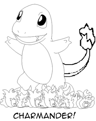 Coloriage Pokemon Charmander