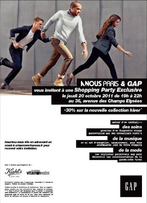 >Invitation Shopping Party Gap & A Nous Paris
