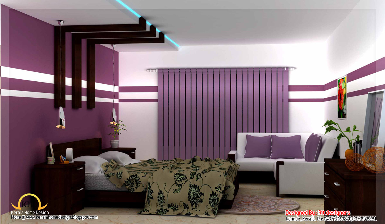 Kerala home design and floor plans beautiful 3d interior Beautiful home interior designs