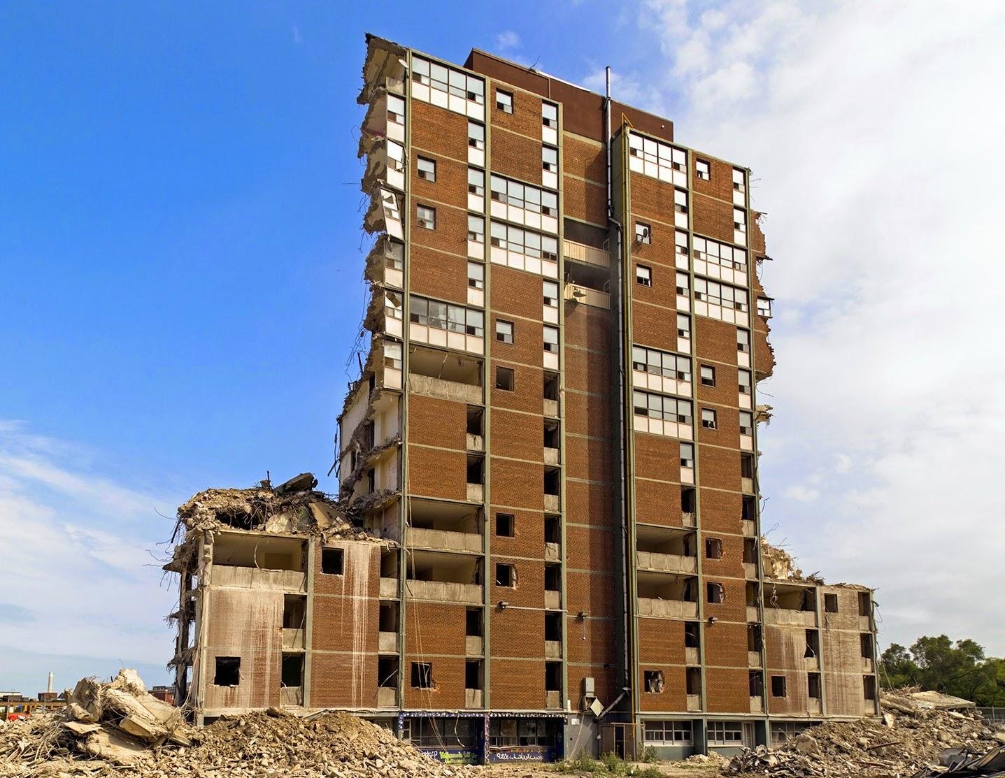 Regent Park demolition, 2014.