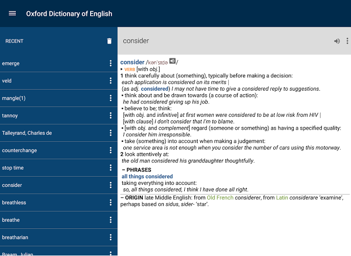 Oxford Dictionary of English Premium