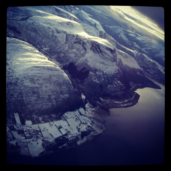 Alesund Norway from the sky