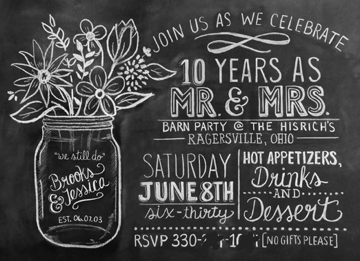 Wedding Anniversary Gift Ideas 10 Years : jessicaNdesigns: Our 10th Anniversary Rustic Barn Party