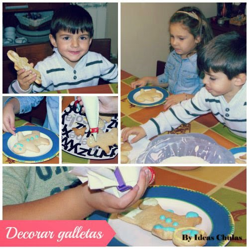Decorando las galletas con glasa