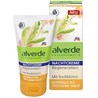 Preview: alverde Bachblüten-Serie - Nachtcreme Regeneration  - www.annitschkasblog.de